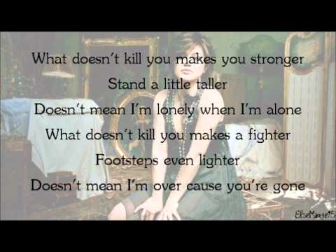 Kelly Clarkson - What Doesn't Kill You (Stronger) [Lyrics On Screen + Download Link]