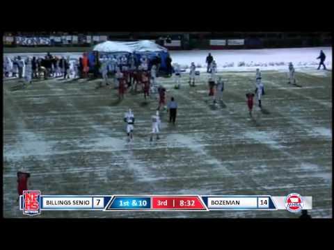 Bozeman #6 Bennett Hostetler interception returned 18 yards