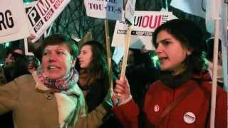 Paris, France, LGTB Demonstration Equal Rights, PMA, Surrogate Mothers .mp4