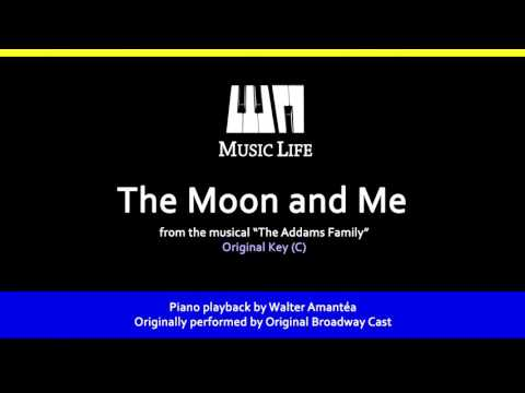 The Moon And Me (The Addams Family) - Piano playback for cover / karaoke