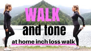 WALKING WORKOUT - Indoor Walk at home for weight loss, suitable for beginners, tone & burns calories