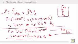 Physics Introduction | Ch7 | Mechanics of non viscous fluids | Examples - 1
