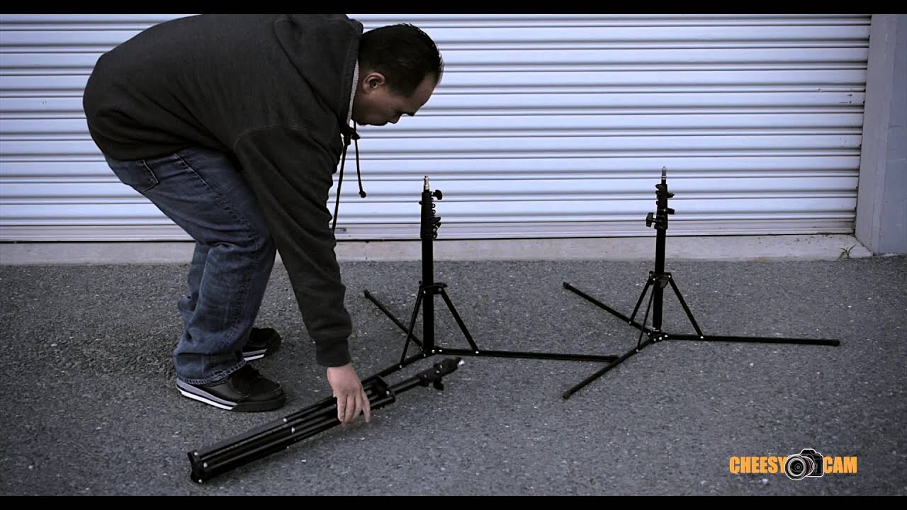 Compact And Portable Reverse Folding Light Stands Youtube