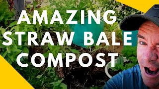 Amazing Straw Bale Becomes Super Compost