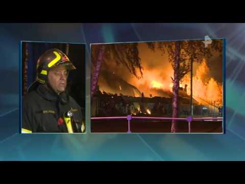 Очагом масштабного пожара в Чехове был магазин автозапчастей
