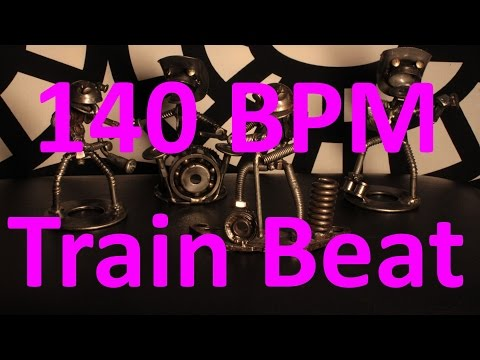 140 BPM - Train Beat Country Rock - 4/4 Drum Track - Metronome - Drum Beat