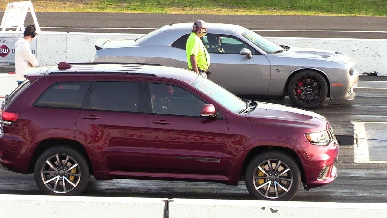 As Fast As Hellcat 2018 Jeep Trackhawk Vs Hellcat Challenger