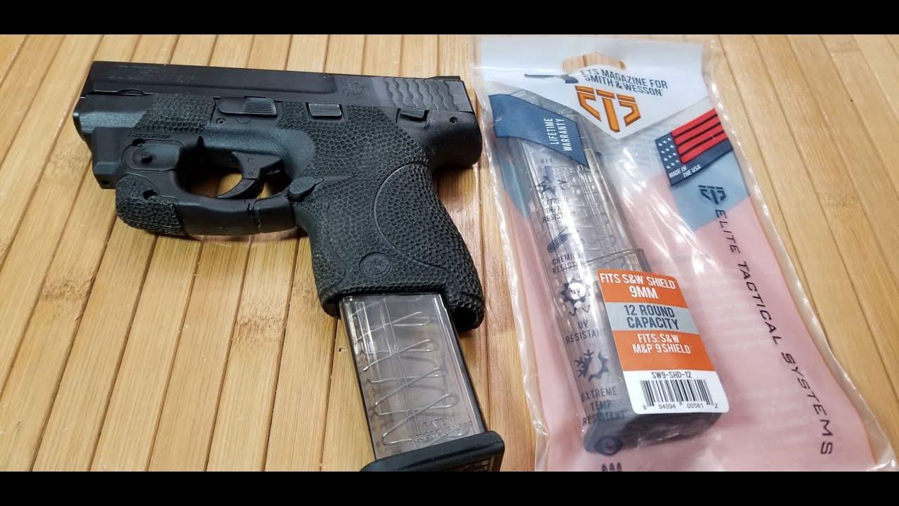 Новые 12 патронные магазины для Смит Вессона Шилд от ETS Tactical