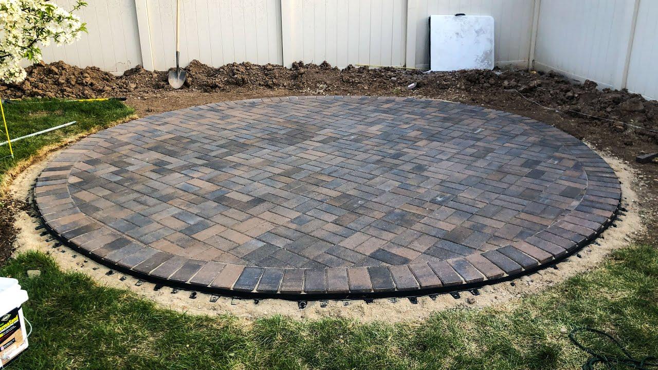 how to build a round paver patio