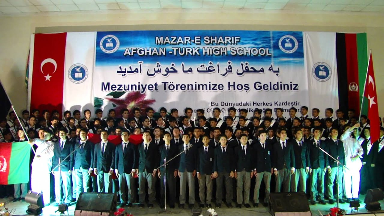 afghan turk student graduation 2011 great national song