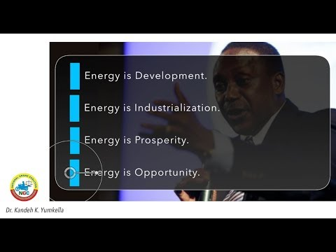 Dr. Kandeh Kolleh Yumkella (KKY) ON ENERGY FOR SIERRA LEONE & AFRICA (NGC)