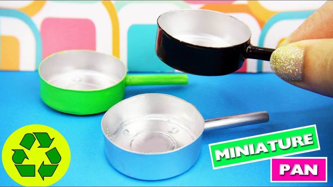 DIY Miniature Pan - Easy Doll Crafts - simplekidscrafts - YouTube