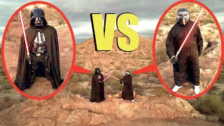 تمسك طائرة بدون طيار بـ Darth Vader VS Kylo Ren (إنهم يقاتلون ولن تصدق ما حدث!