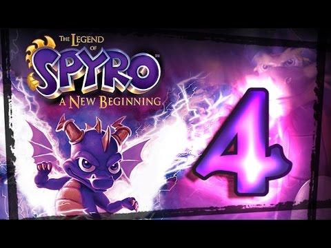 The Legend of Spyro:  A New Beginning Walkthrough Part 4 (PS2, Gamecube, XBOX) Dante's Freezer
