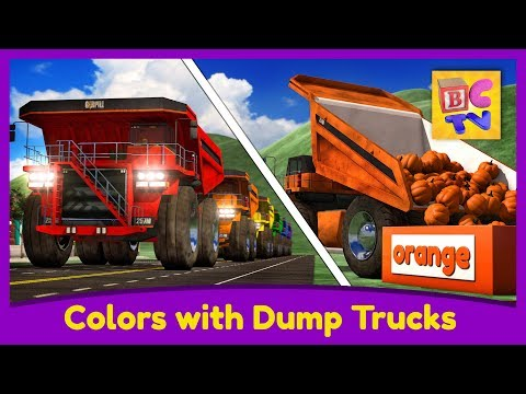 Learn Colors with Dump Trucks Part 1 | Educational Video for Kids by Brain Candy TV