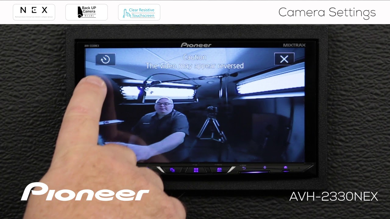 hight resolution of how to camera settings on pioneer avh nex in dash receivers 2017