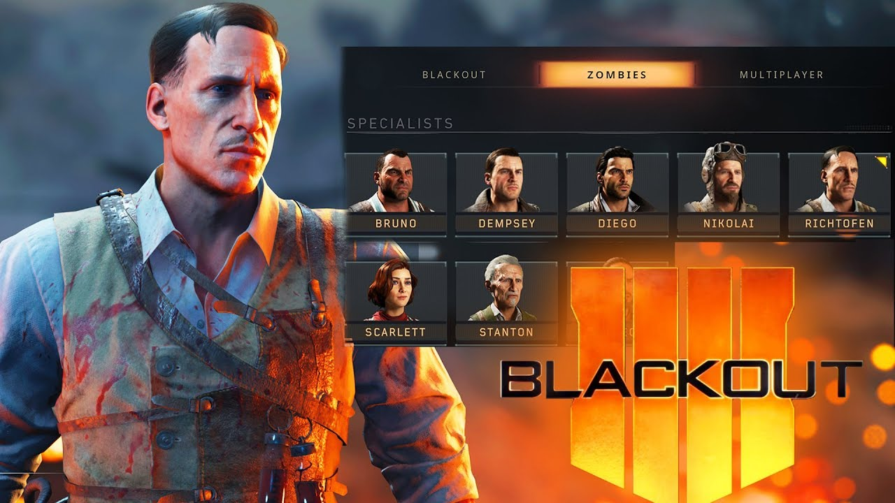 All Zombies Characters Unlocked Black Ops 4 Blackout Zombies Gameplay Black Ops 4 Battle Royale Youtube