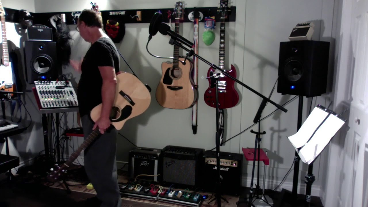 record guitar and vocals into a guitar loop pedal via a mixer youtube. Black Bedroom Furniture Sets. Home Design Ideas