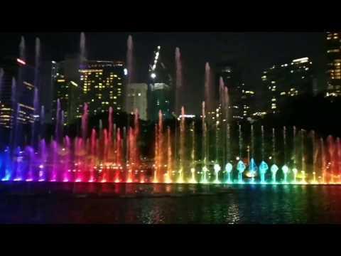 Musical fountain at KLCC complex, Kuala Lumpur