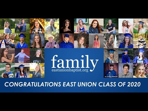 East Union high school graduate slideshow 2020