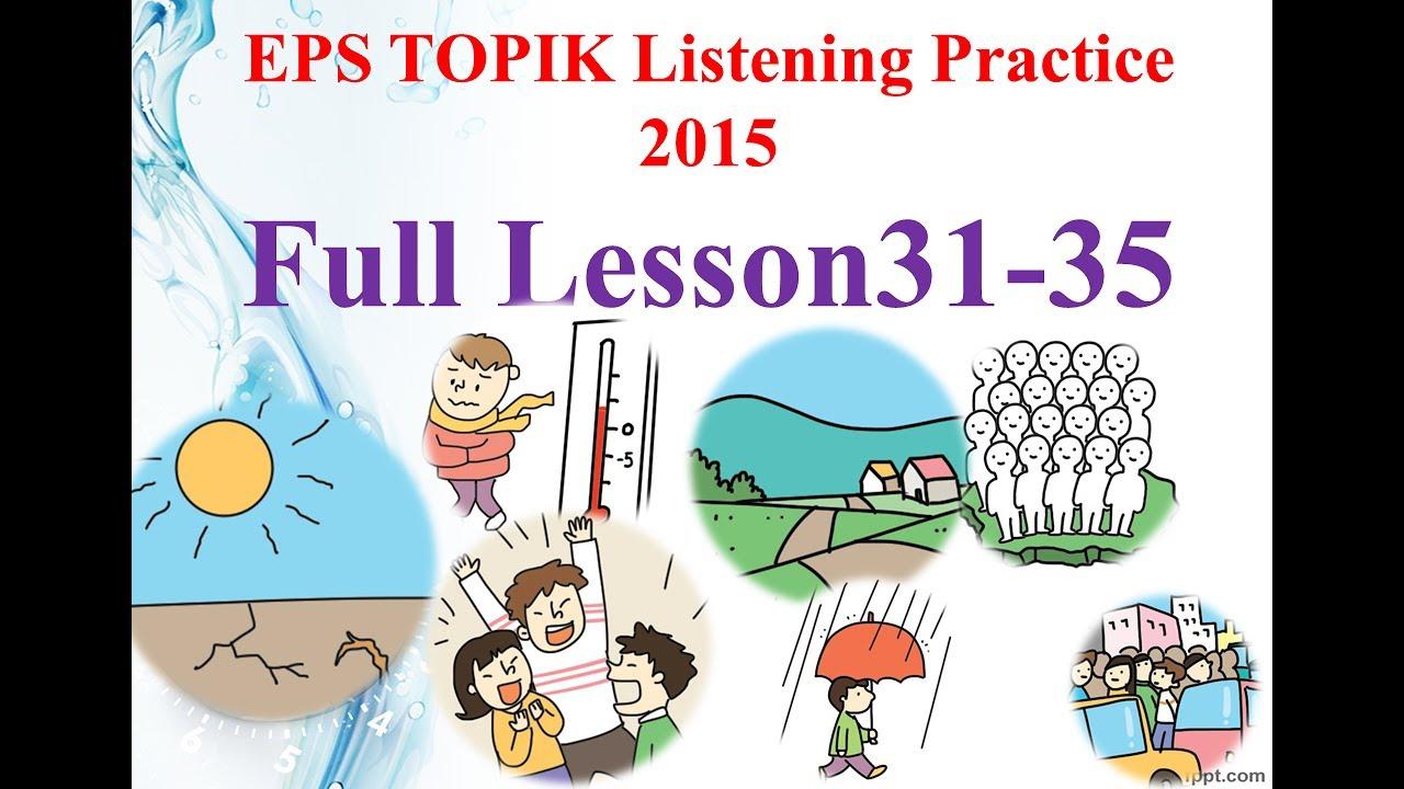 EPS TOPIK 2015 듣기 Full Lesson 31-35 New [2017] Basic Listening 6 - YouTube