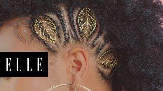 Golden Leaf Side Hawk Braids with HeyGorJess | Braid Star | ELLE