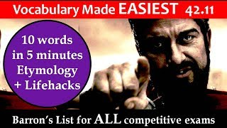 vocabulary made EASIEST 42.11 Learn etymology by puneet biseria in hindi