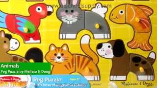 Animals Peg Puzzle By Melissa & Doug 3265
