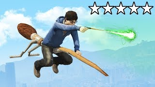 Playing as HARRY POTTER in GTA 5! (Hogwarts & More)