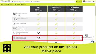 Sell your products on the Tilelook Marketplace
