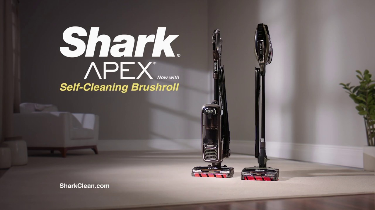 Shark® APEX®—now with the self-cleaning brushroll - YouTube