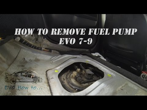How to remove Evo (7-9) Fuel pump - YouTube