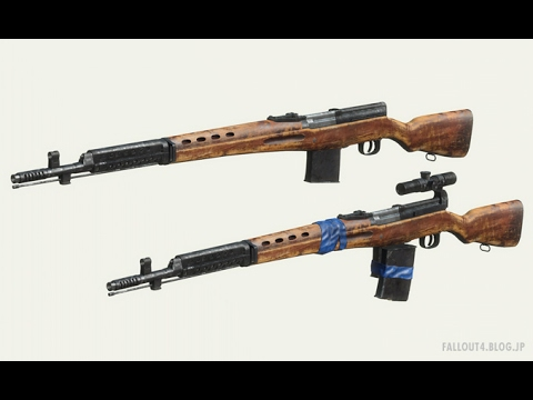 fallout4 MOD Review - SVT-40 by asXas