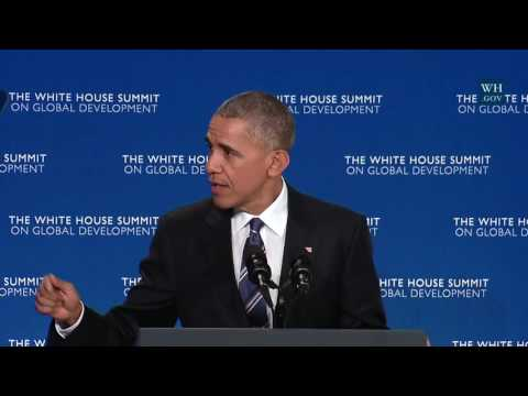 President Obama Delivers Remarks at White House  Development Day