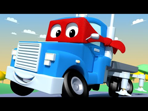 Carl the Super Truck -  CHERRY PICKER  Truck - Car City ! Cars and Trucks Cartoon for kids