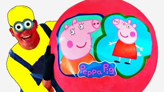 Peppa Pig GIANT EGG SURPRISE OPENING - Peppa Pig Toys - Worlds Biggest Giant Surprise Eggs Unboxing