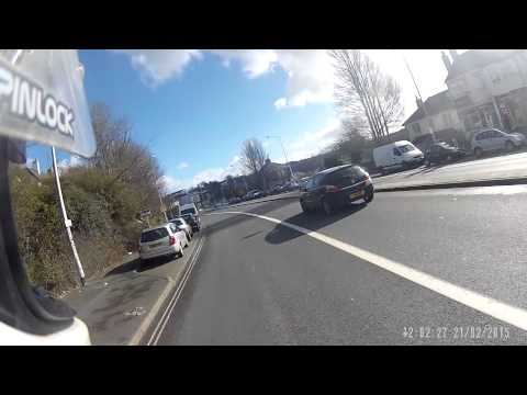 road rage Plymouth UK two guys attack motorcyclist WG12 CXR. original video not ronnie pickering