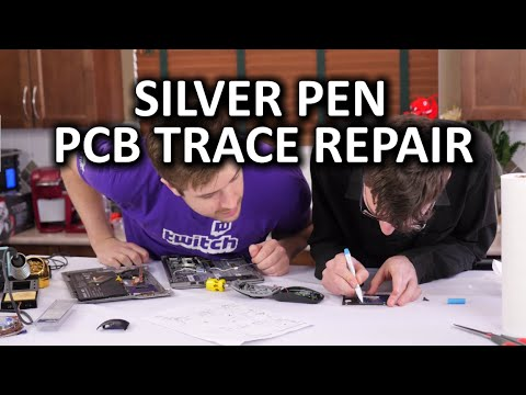 Silver Conductive Pen - DIY PCB Trace Repair