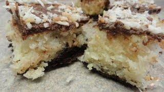 Chocolate Hazelnut (nutella) Coconut Bars