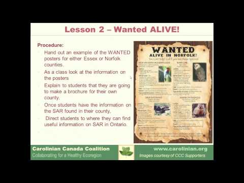 Species at Risk in Action Education Kit - April 2013