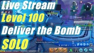 Live Stream, Level 100 Solo Deliver the Bomb / Fortnite Save the World