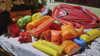 Deflating armbands and other inflatables
