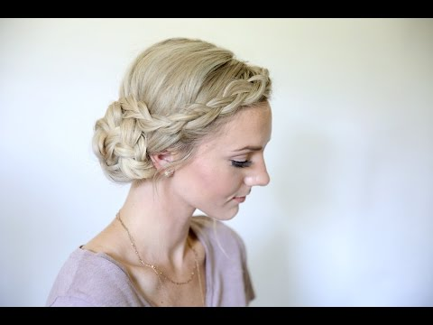 Easy Braided Side Bun | Homecoming Hairstyles | Cute Girls Hairstyles
