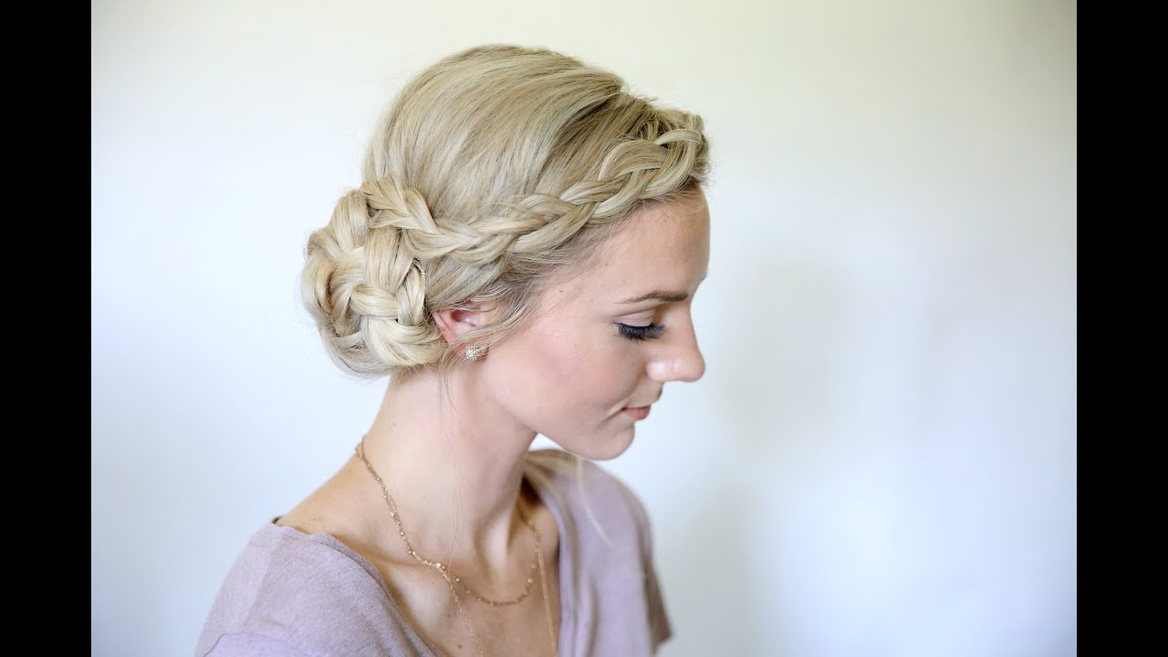 Easy Braided Side Bun Homecoming Hairstyles Cute Girls
