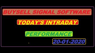 Buy sell signal software intraday performance for all stock market 20/01/2020.