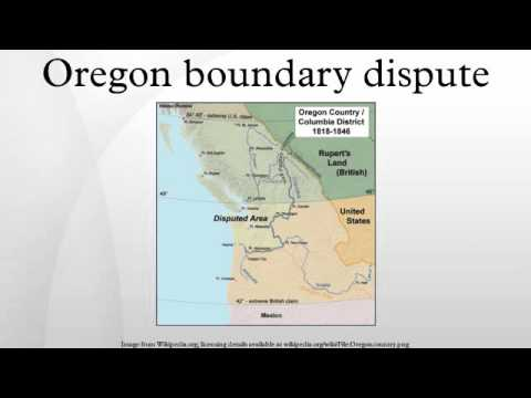 Oregon boundary dispute