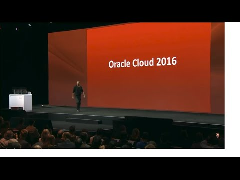 Oracle Openworld 2016 keynote by Larry Ellison: Complete, Integrated Cloud