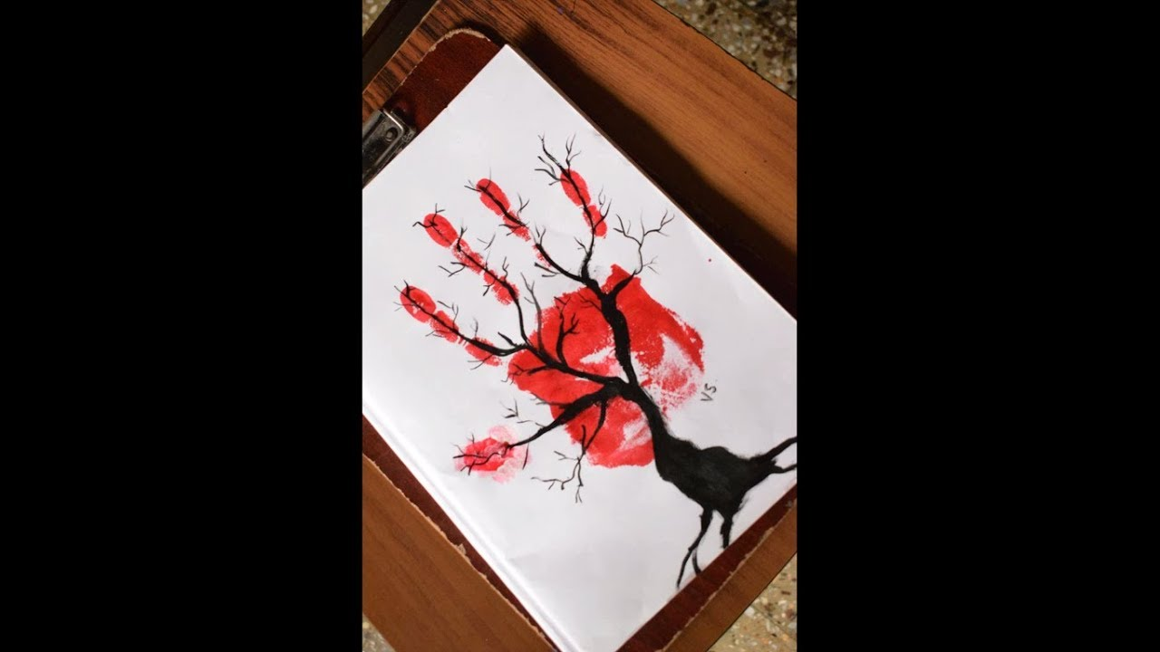 silhouette painting on hand  youtube