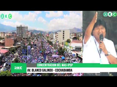 Gran concentración por la defensa a la democracia, justicia: Palabras de Evo Morales Ayma | Bolivia
