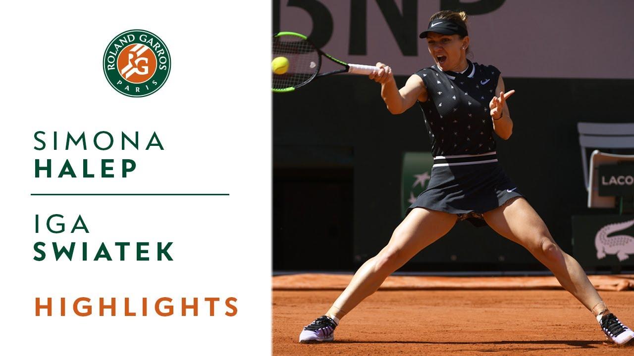Simona Halep Vs Iga Swiatek Round 4 Highlights Roland Garros 2019 Youtube